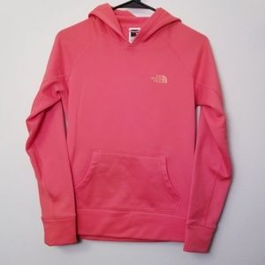North Face Small Coral Pink Hoodie Sweatshirt